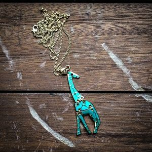 Jewelry - Turquoise color ombre giraffe charm pendant
